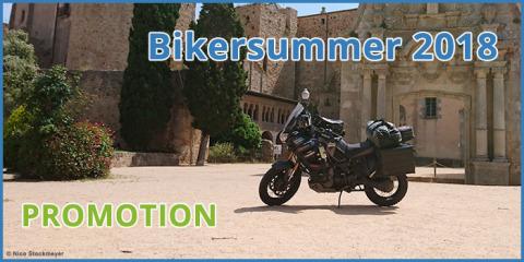 MotorradreifenDirekt.de befragt europaweit Biker nach ihren Tourenplänen im Bikersommer 2018 (Graphic: Business Wire)