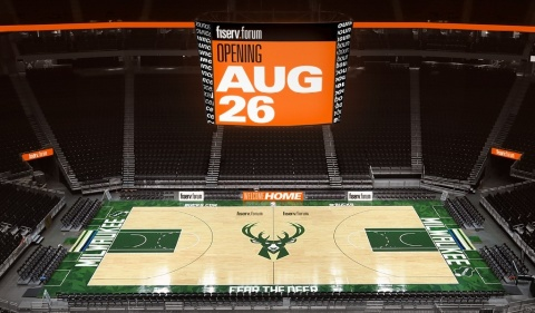 Fiserv Forum showcases company's commitment to financial experiences in step with the way people live, work and play. (Photo: Business Wire)