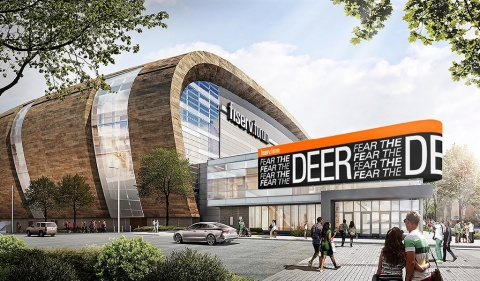 Opening on August 26, Fiserv Forum is a state-of-the-art sports and entertainment facility in the heart of downtown Milwaukee. (Photo: Business Wire)