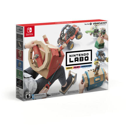 Nintendo Labo: Vehicle Kit will unlock even more ways for people to make, play and discover together, as they speed through races, battle cars equipped with extendable arms and explore a mysterious world. (Photo: Business Wire)
