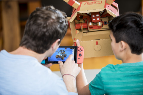 This new Nintendo Labo kit is designed to work with the Nintendo Switch system, and contains materials to build a variety of customizable cardboard creations called Toy-Con, including a Car, a Submarine, a Plane, a Pedal, two Keys and more. (Photo: Business Wire)