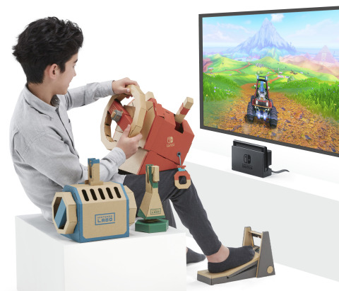 Buckle up for a new adventure while sitting in the driver's seat of a car, a submarine and a plane with the Nintendo Labo: Vehicle Kit, launching on Sept. 14. (Photo: Business Wire)