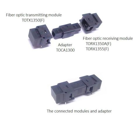 "Toshiba: An adapter ""TOCA1300"" for unidirectional optical modules for short distance data transmission. (Photo: Business Wire)"