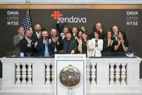 Endava rings the opening bell at the New York Stock Exchange. (Photo: Business Wire)