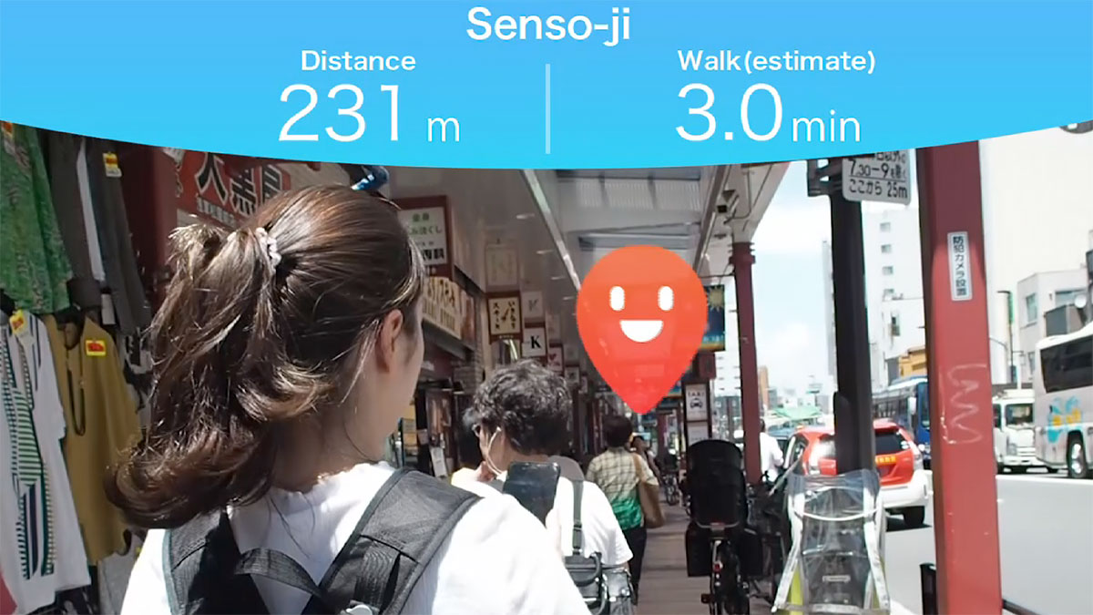 AR Navigation In AR navigation mode, markers overlay reality to guide users to their destination. Users simply have to move towards the arrows on their screen to reach their destination.