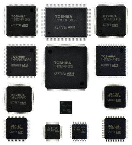 東芝:Arm Cortex-M3コア搭載マイコン「M3Hグループ」 (写真:ビジネスワイヤ)