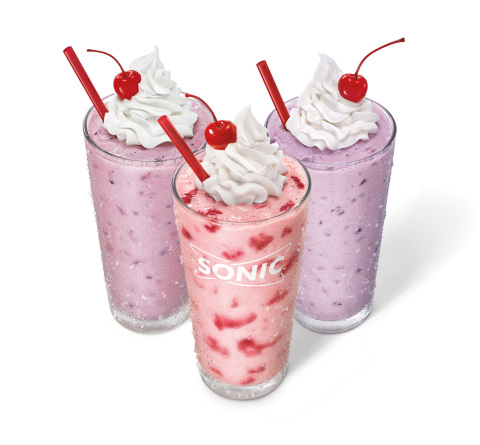 Made with Real Berries you can taste in every sip, SONIC Drive-In keeps summer sweet with new shakes ...