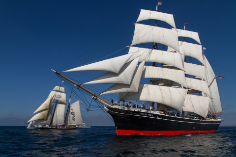 Maritime Museum of San Diego Vessel Star of India to sail for first time in five years November 17 and 18, 2018. (Photo: Maggie Walton)