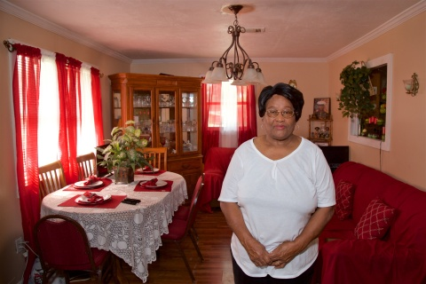 A $5,000 Special Needs Assistance Program grant from Home Bank and FHLB Dallas provided a new roof for a retired Natchez, Mississippi, food service worker. (Photo: Business Wire)