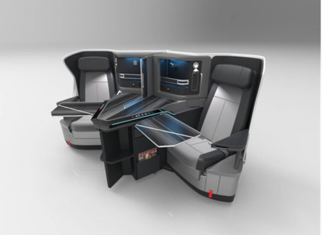 Jamco recently selected Astronics PGA to provide motion and lighting systems for their Venture seat programs on Boeing 787s. (Photo: Business Wire)