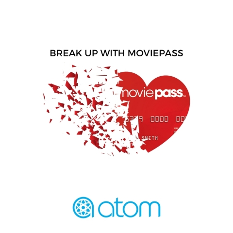 "Atom Tickets Launches ""Break Up Sweepstakes"" For Heart-Broken Movie Fans (Graphic: Business Wire)"