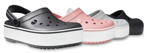 The new Crocband™ Platform Collection features a 1.5-inch platform sole for Fall 2018. (Photo: Business Wire)