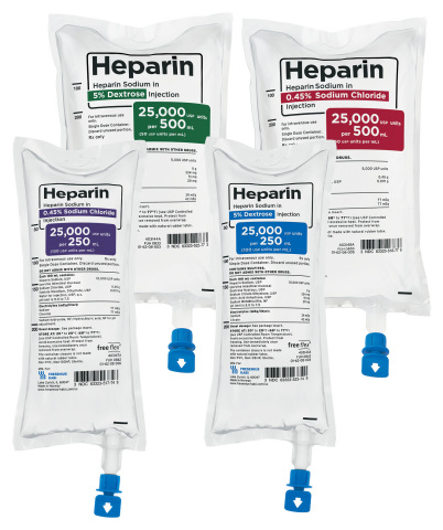 Fresenius Kabi Heparin Sodium is now available in four presentations in freeflex® containers. (Photo: Business Wire)