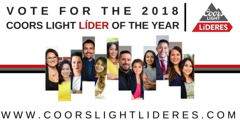 Vote for a Latino leader at www.CoorsLightLideres.com until August 31, 2018! (Graphic: Business Wire)