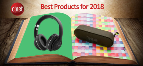 Tribit XSound Go bluetooth speaker and XFree Tune headphones were recognized as Best Products for 2018 by CNET. (Photo: Business Wire)