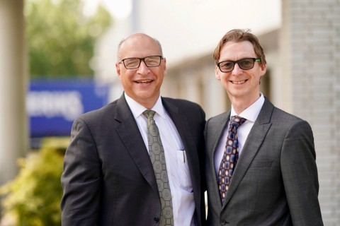 Phil McDivitt, CEO (left), and Andrew Leigh (right), director of compounding technology at Ascend Performance Materials. (Photo: Ascend Performance Materials)