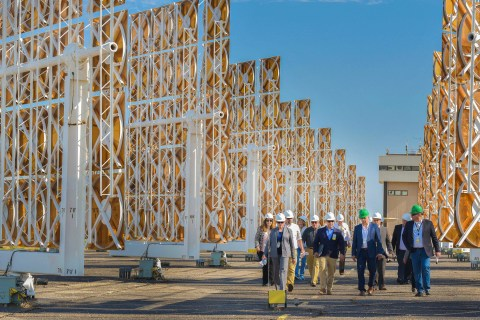The world-leading National Solar Thermal Test Facility in Albuquerque, New Mexico has partnered with SolarReserve to develop heliostat solutions that deliver industry leading performance at a competitive price point (Photo: Business Wire)