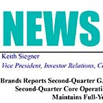 Yum! Brands Reports Second-Quarter GAAP Operating Profit Growth of 7%; Second-Quarter Core Operating Profit Decline of (6)%; Maintains Full-Year Guidance