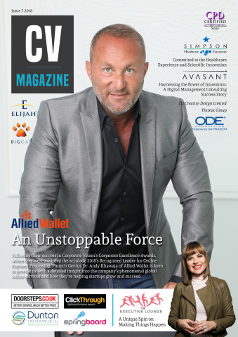 Dr. Andy Khawaja of Allied Wallet on Corporate Vision Magazine Cover. (Photo: Business Wire)