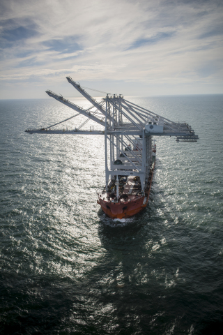 Three new Super Post-Panamax cranes en route to Barbours Cut Container Terminal in 2017 (Photo: Business Wire)