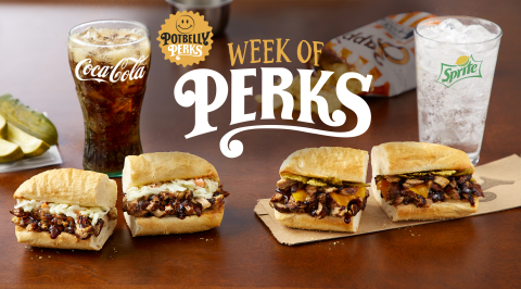 Potbelly Sandwich Shop is giving away thousands of sandwiches, shakes, cookies and chips during Potbelly Perks Week starting August 6 through August 12. Pictured is the new limited-time classic pulled pork and spicy pulled pork sandwich. (Photo: Business Wire)
