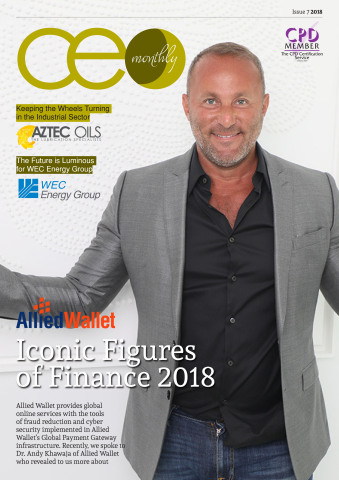 Dr. Andy Khawaja is CEO Monthly's Iconic Figure of Finance (Graphic: Business Wire)