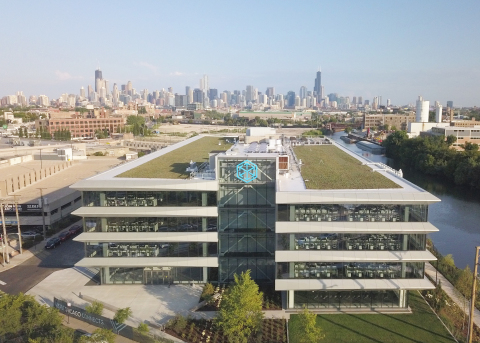 The new C.H. Robinson office features a 5,000 square foot rooftop terrace. (Photo: Steve Miller)