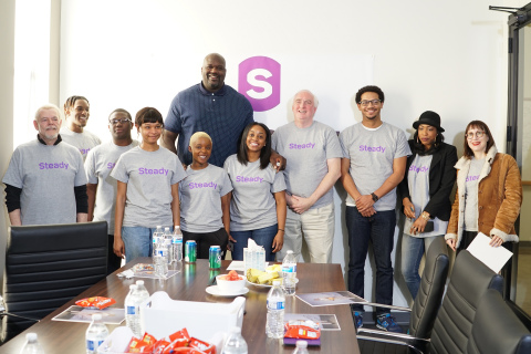 Shaquille O'Neal participates in Steady focus group (Photo: Business Wire)