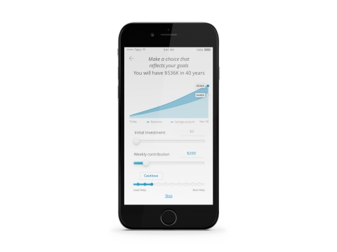 DriveWealth/Bambu's App interface - Projected Savings (Photo: Business Wire)