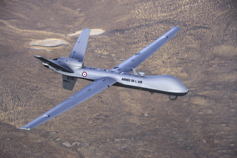 """We are pleased that MQ-9 Reaper flew over this important national event in France,"" said GA-ASI CEO Linden Blue. ""Using its ISR [Intelligence, Surveillance, and Reconnaissance] sensors suite, the MQ-9 enhanced the safety of the French public who attended Bastille Day activities. As a company, we are very proud of the role we play in France's national security and its contribution to the NATO Alliance."" (Photo: Business Wire)"