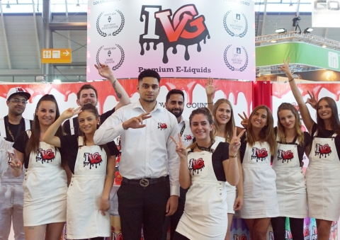 IVG Premium E-Liquids Team at the World's Biggest Vape Exhibition (Photo: Business Wire)