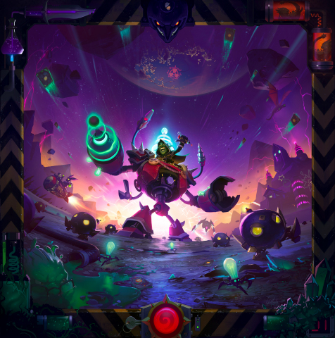Experiment with irresponsibly dangerous inventions and 135 new cards in The Boomsday Project™, the newest expansion for Blizzard Entertainment's smash-hit digital card game, Hearthstone®. (Graphic: Business Wire)