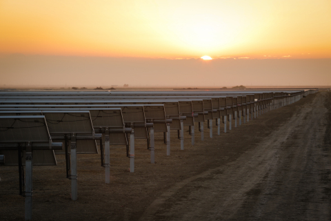 The 200-MW Great Valley Solar Complex, which began commercial operation in May, will produce and transmit enough renewable electricity to power approximately 90,000 homes. Wells Fargo provided tax-equity funding for the project. (Photo: Business Wire)