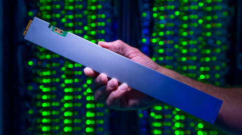 The ruler-shaped Intel SSD DC P4500 can hold up to 32 terabytes. It draws just one-tenth the power o ...