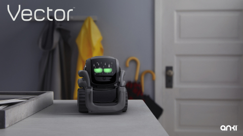 Vector is more than just a robot sidekick. He can help you become more productive by helping out with simple tasks. For example, ask him for the weather before you head out and he will answer in his own, charming way. (Photo: Business Wire)