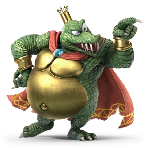 As the beloved villain from all three Donkey Kong Country games on Super NES, King K. Rool joins Super Smash Bros. Ultimate as a playable fighter. He attacks with a blunderbuss that can fire cannonballs at opponents, and throws his crown, which acts like a boomerang. (Graphic: Business Wire)