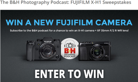 The B&H Photography Podcast continues to be one of the most popular photography podcasts available, and to thank our loyal listeners and entice new subscribers, we have partnered with FUJIFILM for this incredible sweepstakes, in which two lucky listeners will receive a complete FUJIFILM mirrorless camera system. (Photo: Business Wire)