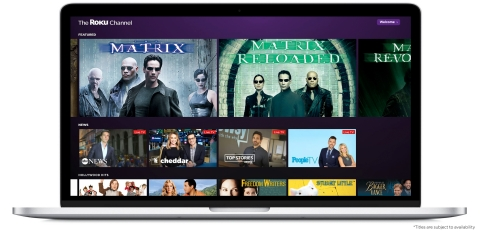 The Roku Channel on the Web (Photo: Business Wire)