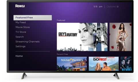 Featured Free on the Roku Home Screen (Photo: Business Wire)