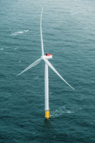 6-MW Siemens Gamesa wind turbine. The same model will be installed at Coastal Virginia. (Photo: Busi ...