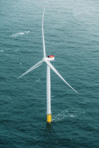 6-MW Siemens Gamesa wind turbine. The same model will be installed at Coastal Virginia. (Photo: Busi ...