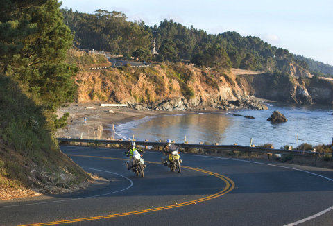 Celebrate National Motorcycle Week (August 14-20, 2018) on Mendocino's scenic Highway 1. (Photo: Visit Mendocino County)