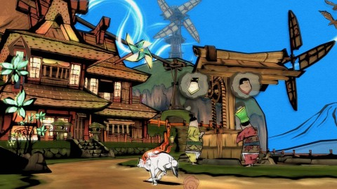 In OKAMI HD, take the role of Amaterasu, the Japanese sun goddess who inhabits the form of a legendary white wolf Shiranui. (Graphic: Business Wire)