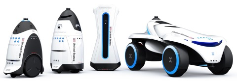 (left to right): K3 Indoor, K5 Outdoor, K1 Stationary and K7 Multi-Terrain Autonomous Data Machines (Photo: Business Wire)