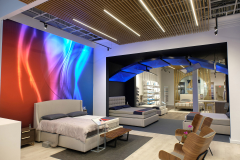 The revolutionary retail concept takes Sleep Number's best-in-class retail experience to yet another level, with interactive technology and digital experiences in a loft-like setting. (Photo: Business Wire)