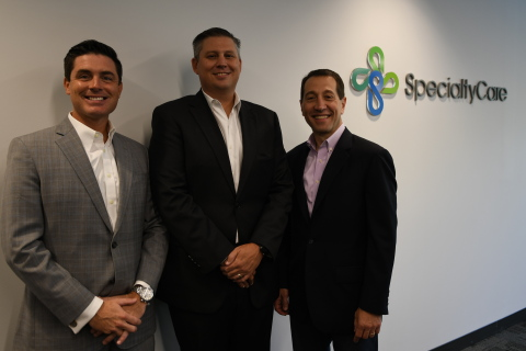 (L to R) Jonathan Walters, President IONM, SpecialtyCare; Brian McCollum, President & CEO, Precedent Spine; Dr. Sam Weinstein, CEO, SpecialtyCare (Photo: Business Wire)