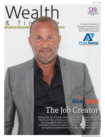 Dr. Andy Khawaja of Allied Wallet on the Cover of Wealth and Finance Magazine as E-commerce CEO of t ...