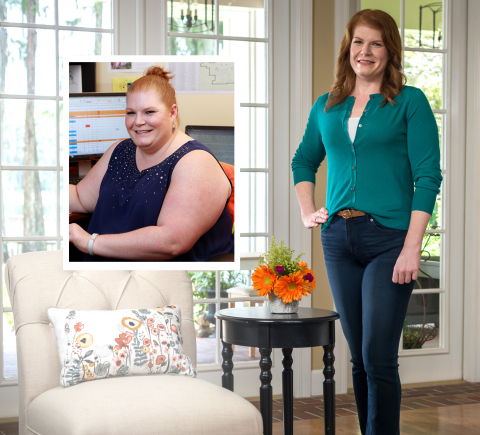 Kimberly Goude of Williamsburg, VA is a winner of the Nutrisystem $40,000 NutriStar Giveaway. Four winners collectively lost 264 pounds and were awarded $10,000 each, plus a trip to a Nutrisystem photo shoot in sunny Tampa, Florida.