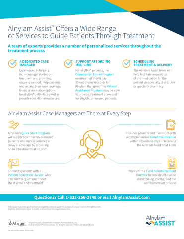 Alnylam Assist fact sheet (Graphic: Business Wire)