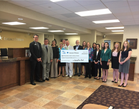 LegacyTexas Bank and the Federal Home Loan Bank of Dallas awarded $16,000 in Partnership Grant Program funds to Richardson Adult Literacy Center to support English as a Second Language classes for adults. (Photo: Business Wire)